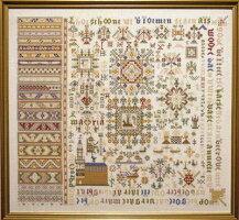 PERMIN(ペルミン)刺繍キット【アンティークサンプラー】デンマーク北欧上級者39-8406