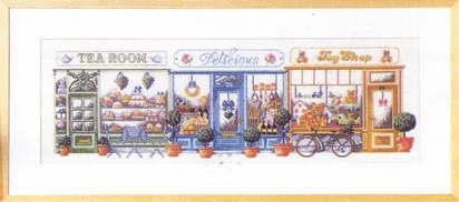 クロスステッチ刺繍キットペルミンForretningsgadeビジネスストリートデンマーク上級者70-5404