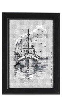 ペルミンPerminofCopenhagenクロスステッチ刺繍キットトロール船Trawler輸入北欧デンマーク初心者13-8376