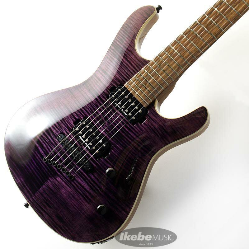 ギター, エレキギター MAYONES Setius 7 Trans Dirty Violet Gloss
