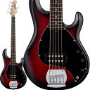 Sterling by MUSIC MAN 《スターリン by ミュージックマン》 S.U.B. Series Ray5 (Red Ruby Brust Satin/Rosewood)