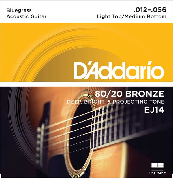 ギター用アクセサリー・パーツ, アコースティックギター弦 DAddario 8020 Bronze Bluegrass Acoustic Guitar Strings EJ14 Light TopMedium Bottom