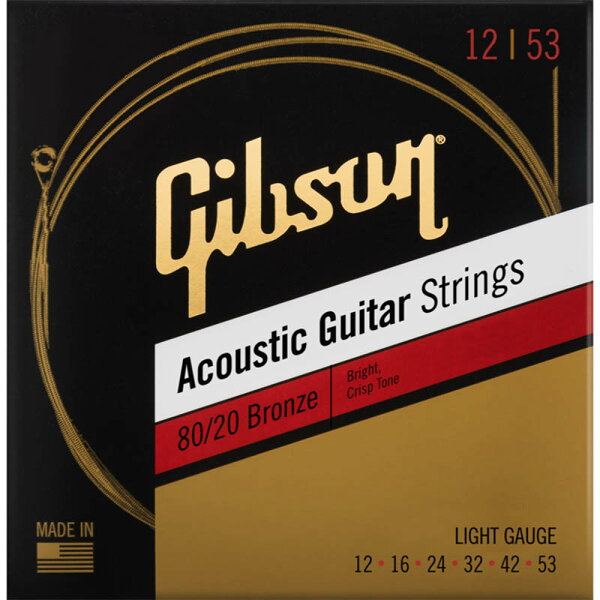 Gibson《ギブソン》80/20BronzeAcousticGuitarStrings SAG-BRW12Light