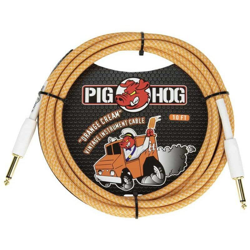 ケーブル, シールドケーブル PIG HOGVintage Series Inst Cable10ftORANGE CREME