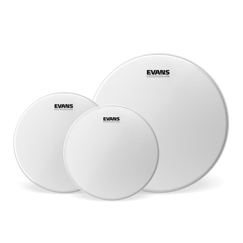 ドラム, ドラムヘッド EVANS ETP-UV2-F UV2 Coated Tom Pack 1012142ply 7mil 7mil