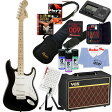 Squier by Fender 《スクワイヤーbyフェンダー》 Affinity Series Stratocaster (Black/Maple Fingerboard) 【ストラト&VOXアンプ豪華20点入門セット】