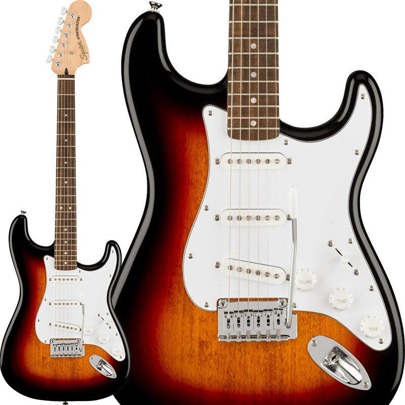ギター, エレキギター Squier by Fender by Affinity Series Stratocaster (3-Color SunburstLaurel)