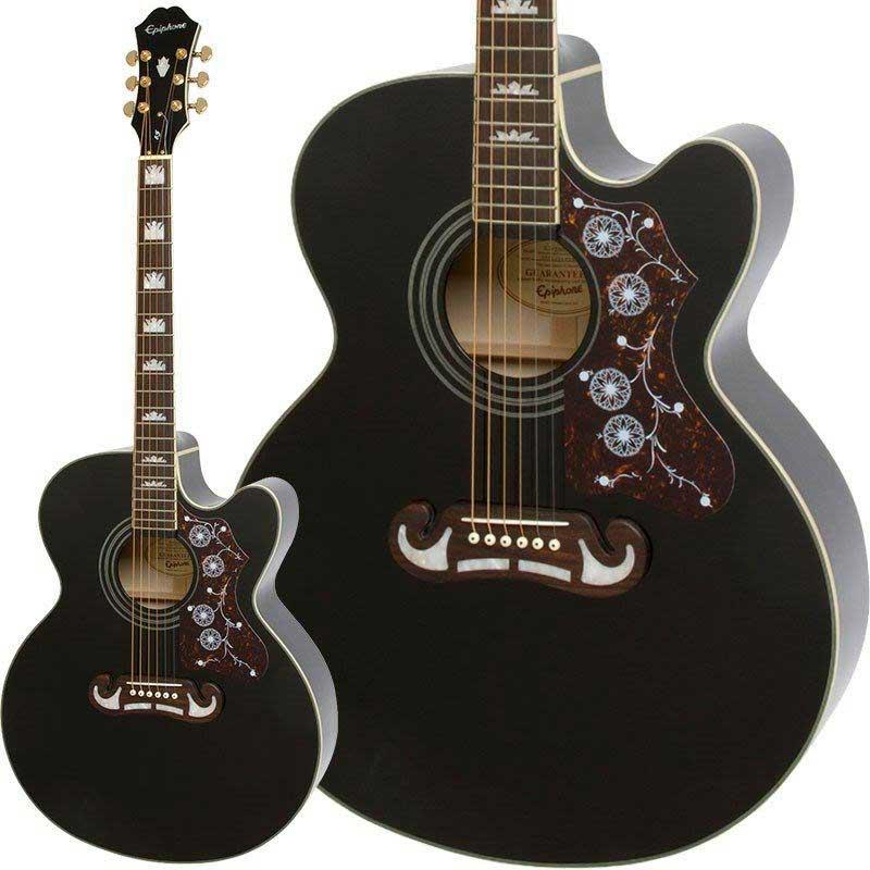 ギター, エレアコギター Epiphone J-200EC Studio (Black)