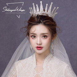 ウェディングティアライヤリング2点セットヘッドドレスクラウン結婚式ウエディング花嫁ブライダル用王冠ヘアアクセサリーパーティー発表会