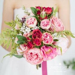 ウエディングブーケ結婚式ウェディングブーケ花嫁ブーケ二次会ブライダルブーケ造花クラッチブーケ手作り