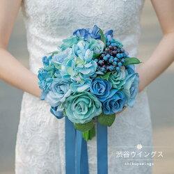 ウェディングブーケ結婚式ウエディングブーケ花嫁ブーケブライダルブーケ造花ラウンドブーケ手作り二次会