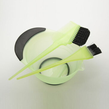 DEEDS E-0002 プロ用 ヘアカラーセット グリーン / 美容師 理容 理容師 散髪 くし 毛染め ブラシ ヘアカラー 美容小物