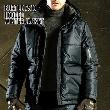 BURTLE 7510 大型フード付 防寒ジャケット素材 ポリエステル100%サイズ SS S M L LL 3L 4L 5Lバートル 秋冬 作業着 防寒着 上下 防寒ジャンパー メンズ ユニセックス レディース かっこいい作業服
