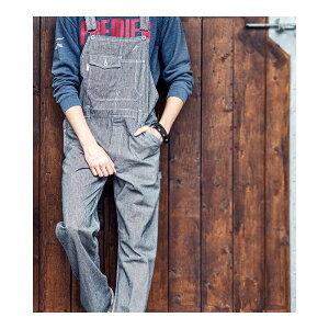 ヒッコリー サロペット オールシーズン メンズ レディース 親子ペア 作業服 ツナギ オーバーオール オールインワン かっこいい おしゃれ かわいい 大きいサイズ グレースエンジニアーズ GE-807