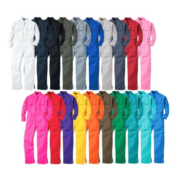 SOWA 9000 スタンドカラーつなぎ素材:綿100%サイズ:SS S M L LL 3L 4L 6Lカラー:赤 青 オレンジ 黒 ネイビー 他全20色メンズ レディース 大きいサイズ ビッグサイズ 親子ペア 長袖 作業服 ツナギ オーバーオール 衣装 ハロウィン