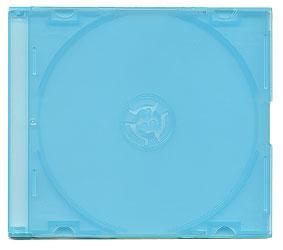 Dear Smile スーパースリムCDケース(10枚パック)(ブルー)【薄さ5mmでスッキリ収納!】画像