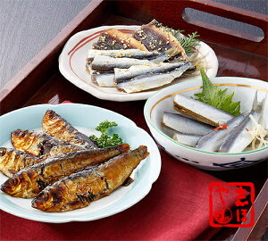ままかりの味くらべ(酢漬け、甘露煮、みりん干し)
