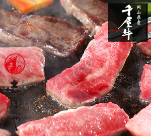 【送料無料】千屋牛 焼肉セット (カルビ) 高級 岡山県産 黒毛和牛 熟成肉 お祝 内祝 お返し お取り寄せ ギフト(500g)