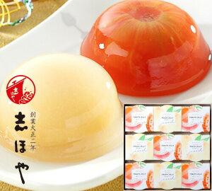 完熟トマトと白桃の紅白ゼリー詰合せ (9個入) 木箱入 お祝 内祝 お返し お取り寄せ ギフト