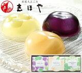 おかやま果実(清水白桃・マスカット・ピオーネ)のフルーツゼリー (3個入) お祝 内祝 お返し お取り寄せ お中元 ギフト