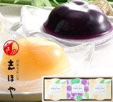 清水白桃・ピオーネゼリー(3個入)  プレゼント ギフト お祝 お返し 内祝 お供え お取り寄せ