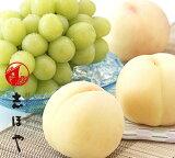 清水白桃(3玉)・晴王[シャインマスカット](1房)詰合せ 岡山 白桃 ぶどう お中元 ギフト お供 お取り寄せ