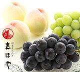 水蜜桃(3玉)・マスカット(1房)・ピオーネ(1房)詰合せ 岡山 白桃 ぶどう お中元 ギフト お供 お取り寄せ