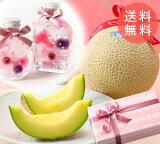 【送料無料】母の日 プレゼント ギフト 選べるお花とクラウンメロン(マスクメロン)