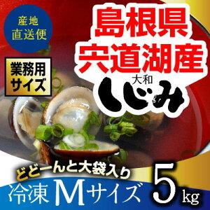 宍道湖産砂抜き冷凍大和しじみ(シジミ)Mサイズ5kgを爆安で御提供します。