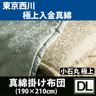 牙線蠶絲被 Nishikawa 絲牙線被子卵石輪-(雙長 190 × 210 釐米) 15 ss ★ 最佳存款牙線絲 100%新鮮地面高品質手蠶絲牙線被日本製造的 ★ AG2150