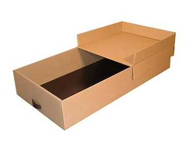 ベット下収納ボックス4個組 インデクスシール付 衣装・和服・洋服、着物の収納に便利なダンボール製収納