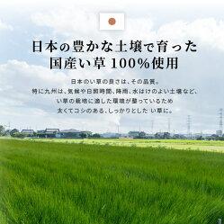 【日本製・和モダン・アジアン・シンプル・爽やか】国産い草ラグカーペット・絨毯・敷物・マット・寝ござ風水約191×250cm【裏貼有】