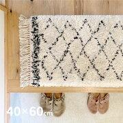 ウィルトン織マット玄関マットBOHOボーホー約50×80cm9015/3Y18ベニワレン風アクセントマットモロッコ風モロッカンラグシンプル厚手ふっくら屋内シャビーシャービック