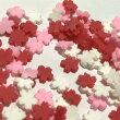 (2gセット)桜のデコパーツサクラチェリーブロッサム樹脂パーツデコカラーミックス赤ピンク白和風パーツ
