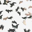 (10枚セット)オオカミのメタルパーツブラック狼遠吠えウルフ動物アニマル薄型ネイルレジンハンドメイド