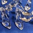 (2個セット)ガラスの靴のアクリルチャームシンデレラハイヒールクリア透明感パーツハンドメイド