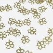 (10枚セット)クローバーのメタルパーツ四葉リーフ春モチーフネイルレジン封入ゴールド