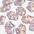 (2個セット)イチョウのガラスチャームグラデーションピンクパープル銀杏葉リーフパーツガラスビーズハンドメイド