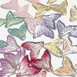 (7個セット)人魚の尾のガラスチャームマーメイドファンタジービーズグラデーションカラーミックスパーツハンドメイド