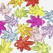 (10個セット)カエデのアクリルチャームカラーミックスクリア楓紅葉秋モチーフパーツハンドメイド