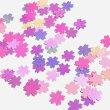 桜のホログラムPミルキーカラーミックスレジン封入チェリーブロッサム春モチーフフラワーパーツハンドメイド
