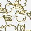 (2個セット)うさぎのレジン枠後ろ向きゴールド兎空枠ウサギ動物アニマルチャームパーツハンドメイド