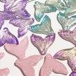 (8個セット)人魚の尾のガラスチャームマーメイドファンタジービーズグラデーションカラーミックスパーツハンドメイド