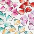 (10個セット)花びらのガラスビーズ桜ハート花グラデーションカラーミックスパーツハンドメイド