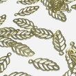 (7個セット)リーフのブラスチャーム葉っぱ真鍮パーツ葉植物パーツハンドメイド