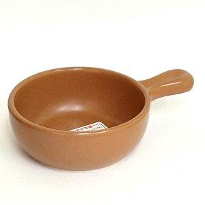 グラタン皿 片手鍋 直火OK オレンジブラウン アヒージョ/鍋/タパス/業務用食器/カフェ食器/万古焼