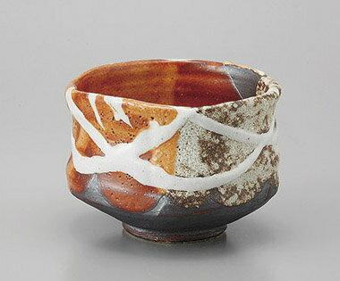 抹茶茶碗 赤志野塗分美濃焼 陶器 抹茶碗 茶道具 御茶道具 茶器