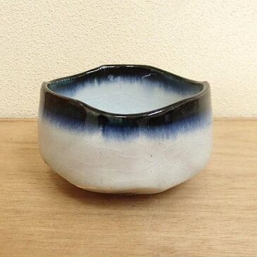 抹茶茶碗 白山藍流し 冬用美濃焼 陶器 通販 抹茶碗 茶道具 御茶道具