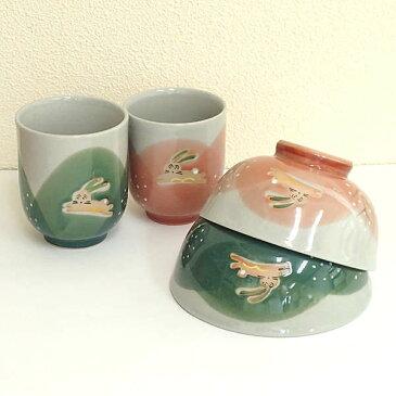 夫婦茶碗・夫婦湯のみ 野うさぎ美濃焼 日本製 プレゼント 結婚祝い 通販