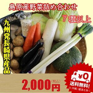 長崎県島原半島でとれた新鮮な野菜セットをそのまま食卓へ届けます送料無料 九州発 島原産野菜...